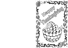 Thanksgiving Day Themed Card (BW) 1.pdf