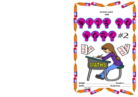 Grade 5-Wits to Work (2) - solving maths problems