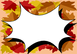 Autumn/Fall Leaves Themed Printer Paper