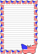 USA Flag Themed Lined Paper (Portrait).pdf