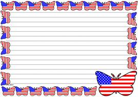 USA Flag Themed Lined paper (Landscape).pdf