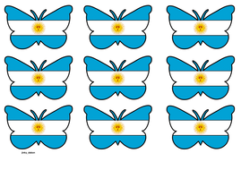 Butterfly Themed Argentina Flag (3x3).pdf