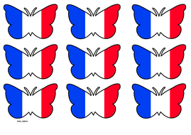 Butterfly Themed France Flag (3x3).pdf