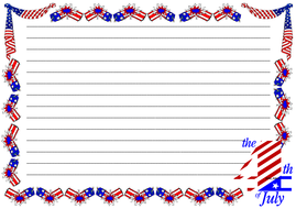 The 4th of July Themed Lined Paper (Landscape).pdf