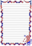 The 4th Of July Themed  Lined Paper (Portrait).pdf