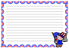 4th of July Themed Lined Paper (Landscape).pdf