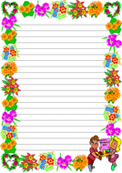 'Happy Mother's Day' Themed Lined Paper (Portrait).pdf