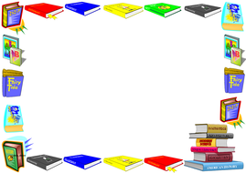 World Literacy Day Lined paper and Pageborders
