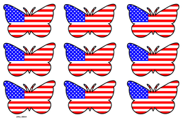Butterfly Themed USA Flag (3x3).pdf