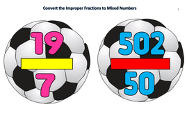 Convert the Improper Fractions to Mixed Numbers