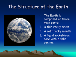 The structure of the Earth PowerPoint