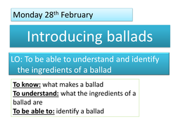 Introduction to Ballads