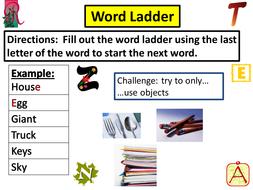 Word Ladder activity
