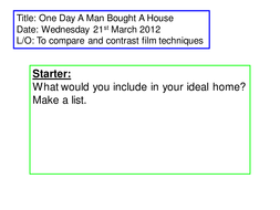 Short Film: One Day a Man Bought A House