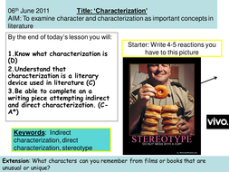 Characterization in Writing