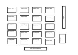 Blank seating plan