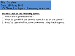 Coraline (Close Reading and Creative Writing)