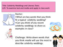 Media texts taught through Celebrity Weddings