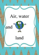 air, water and land