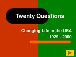 Changing Life USA 1929 - 2000