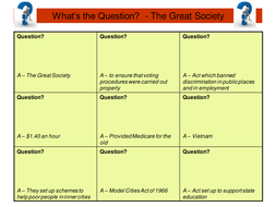 What's the question - Great Society.PPT