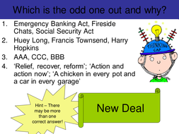 Odd One Out New Deal