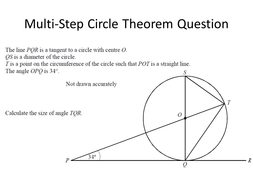 Circle Theorems - Multi-Step Flow Chart Activity
