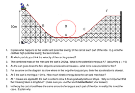 Energy changes on a rollercoaster