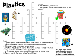 Plastics crossword puzzle