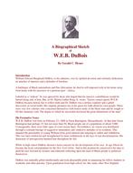 THE ROLES OF BOOKER T. WASHINGTON; W. E. B. DUBOIS