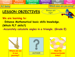 Angles in a Triangle Lesson