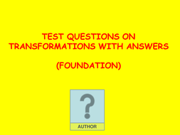 Transformations test questions