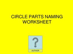 Circle parts naming handout