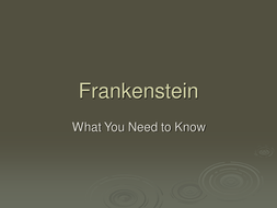 Frankenstein Intro and Research Assignment