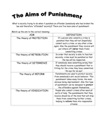 Aims of Punishment definition task