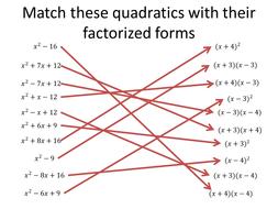 Match quadratics