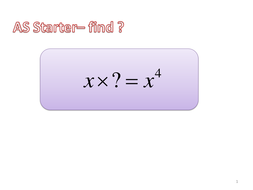 Intro to Algebraic long division starter