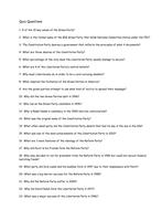Third Party Quiz