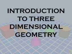 Basic Concepts  of  3D Geometry