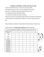 Handout – Probability Cubes in a bag
