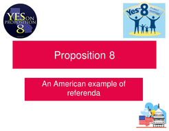 Proposition 8; example of US referendum