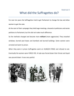 What did the Suffragettes do.doc