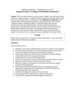 argument essay- Is College a Worthwhile Investment.docx