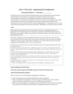 Argumentation Tasks for The Pearl