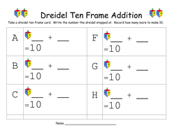 Dreidel Ten Frame Addition Recording Sheet.docx