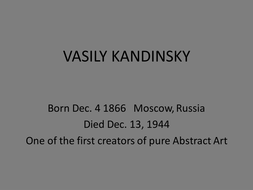 Kandinsky - The Abstract Art