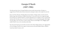 Georgia O'Keefe - Collection of Work