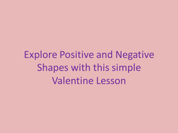 Explore Positive and Negative Space: visual arts