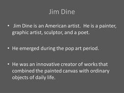 Jim Dine Hearts Art Lesson