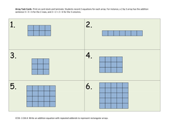 Array Task Cards - write repeat addition equations
